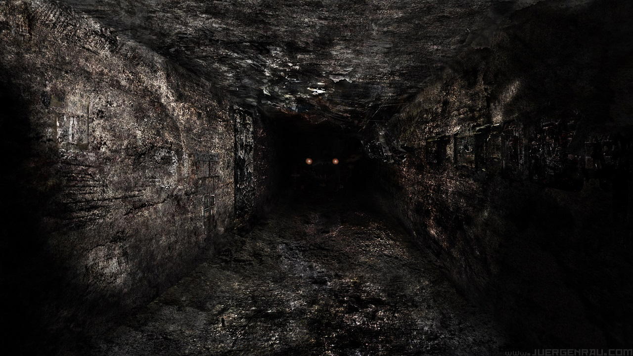 Apocalyptic abandoned lost tunnel